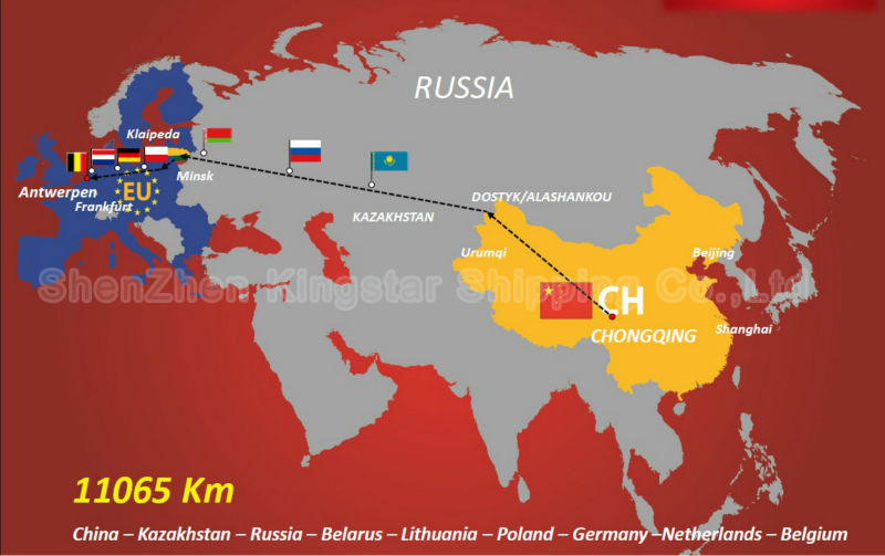 Direct train from China to Warsaw -Kingstar Shipping